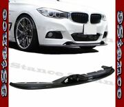3d Style Cfrp Carbon Fiber Drill On Front Lip For 2013up F34 3gt M-sport Bumper