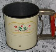 Androck Hand-i-sift Flour Sifter Wooden Handle Antique
