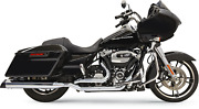Bassani True-dual Down Under Head Pipes For 2017-20 Harley - Chrome - 11515a