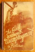 The Land Without Unemployment - Rare 1931 Russian Propaganda 1st Edition - Nice