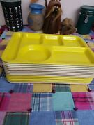 13 Tray Lot Texas Ware Divided Cafeteria Trays Texasware Vintage 1950s