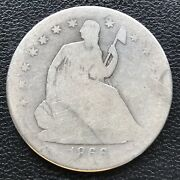 1866 S Seated Liberty Half Dollar 50c Better Date Circulated 16747
