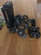 Microsoft Xbox360 Elite System Bundle 120gb Black Console W Two Controls And Games