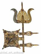 Rare Unique Gold Plated Real Antique South India Traditional Door Lock.g2-164