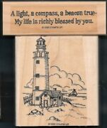 Lighthouse A Light Compass Beacon True Father Day Word Stampin' Up Rubber Stamp