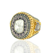 2.05ct Diamond 14kt Yellow Gold Ring .925 Sterling Silver Victorian Look Jewelry