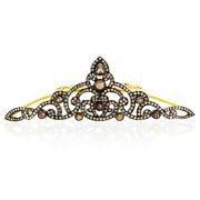 3.4 Ct Slice Diamond 925 Sterling Silver Antique Look Tiara Womenand039s Gift Jewelry