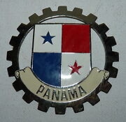 Vtg Panama License Plate Auto Badge Made In Spain B3