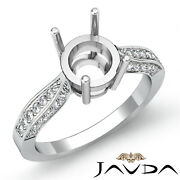 0.4ct Round Diamond Affordable Engagement Ring Cathedral Pave Set Semi Mount