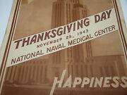 Thanksgiving Day Ww2 Usn National Naval Medical Center Department Of The Navy