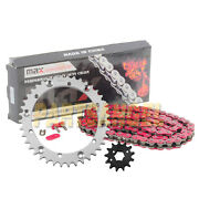 Heavy Duty Red Chain And Sprocket Kit For 1989-2004 Yamaha Warrior 350 Yfm350x