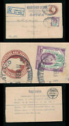 Gb Stationery 1911 Registered Uprated 1 1/2d Ke7 Perfin T C + S To Davos Platz