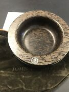 """John Hardy Silver And Black Palm Wood Large 4 1/4"""" D. Magnetic Bowl Pin Holder"""