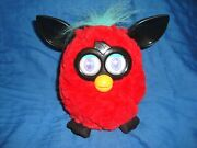 Furby Boom Red, Black And Turquoise Color 6 Tall 2012 Hasbro