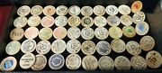 Large 52x Piece Wooden Nickels Collection - All Types And Companies