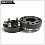 2x35mm 6x5.5 Hubcentric Black Wheel Spacers 6x139.7 93.1 Fit Ford Ranger Bt50