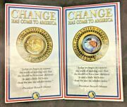 24k Gold Plated Barack Obama Presidential Commemorative Coin Limited Edition