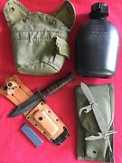 Ontario Jet Pilot Knife 1987camillus 4function 1979canteen 1996mag Pouch