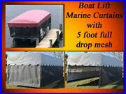 Replacement Boat Lift Canopy Cover / Marine Curtain Skirt / Shorestation 24x108