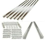 Bed Strips Kit Chevy 1957 2nd - 1959 Stainless Steel Long Bed Wood Stepside