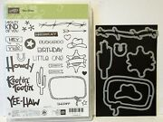 Stampin Up Yee Haw Photopolymer Stamps And Framelits Dies By Dave New Cowboy Hat