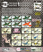 Wing Kit Collection Vs1 Wwii Japanese Shiden Kai Us P-51d Mustang Fighter Set