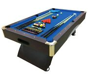 8and039 Feet Billiard Pool Table Snooker Full Accessories Game Bellagio Blue 8ft