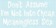 Don't Assume I'm Not Into Cheap.... Car Truck Suv Funny Vinyl Sticker Decal