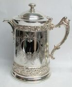 Circa 1860and039s - 70and039s American Meriden Company Fabulous Lemonade Pitcher / Pour