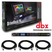 Dbx Driverack Pa 2 X 6 Pa Management Processor With Display And Us. W/ 3 Xlr Cable