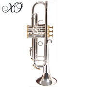 Xo 1602s Professional Series Bb Silver Plated 0.459 Bore Trumpet With Case