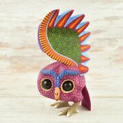 Magia Mexica A1824 Owl Alebrije Oaxacan Wood Carving Painting Handcrafted