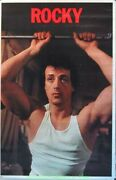 Rocky Movie Poster Damaged Original 1977 Commercial Print Sylvester Stallone