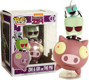 Invader Zim - Zim And Gir On The Pig Funko Pop Vinyl New In Box