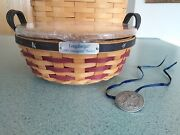 Longaberger 2005 Inaugural Basket Lid Protector And Tie-on Complete New