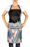Timingila Nature Adjustable Printed Kitchen Apron With Tie Back Chef -nt-apd428a