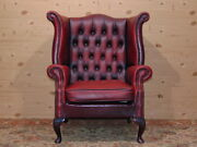 Chesterfield Chiar Original English Vintage In Red Leather.