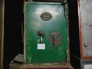 Green Vintage English Victorian Safe - In Iron, Perfectly Working