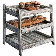 3 Tier Wood Stand Fruit Vegetable Produce Rustic Crate Market Rack Holder Tray
