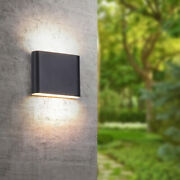 6w 12w Cob Led Wall Light Up Down Sconce Lamp Living Room Bedroom Outdoor Ip65