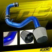 For 06-09 Vw Golf Gti Turbo 2.0t Fsi Blue Cold Air Intake + Black Filter Cover