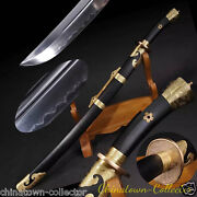 Yanling Qing Sword Hand Forged T10 Steel With Clay Tempered Blade Sharp 0032