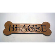 I Love My Beagle Sign Wooden Wall Hanging Bone Shaped Plaque-dog Lovers Gift