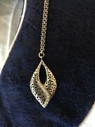 Lois Hill Large Pendant Sterling Silver 1.5 Tall On 18 Necklace Brand New