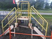 Industrial Crossover Stairs / Conveyor Etc 6 Steps Steel W/ Poly Non Slip Tread