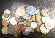 Large Collection Lot Of 55 Tokens And Medals Various Dates And Types With Proofs