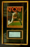 Very Rare Brooks Robinson Orioles Signed Autographed Framed Personal Check