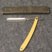 Giesen And Forsthoff Straight Razor 295 Adoration Hand Forged Ivory Celluloid