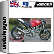 Spark 2 Exhaust Low Approved Titanium Round Ducati Monster 900 1998 98 1999 99