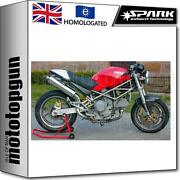 Spark 2 Exhaust High Approved Round Ducati Monster 600 1994 94 1995 95 1996 96
